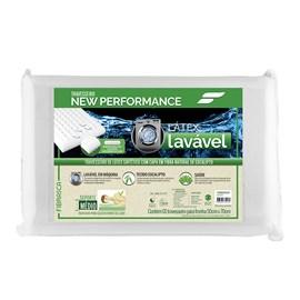 Travesseiro New Performance Látex Lavável Eucaliptus Fibrasca