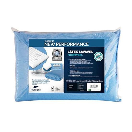 Travesseiro New Performance Látex Lavável Frostygel Fibrasca