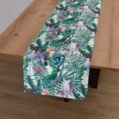 Trilho de Mesa Argivai Glamour Lilás Pássaros 40cm x 1,40m